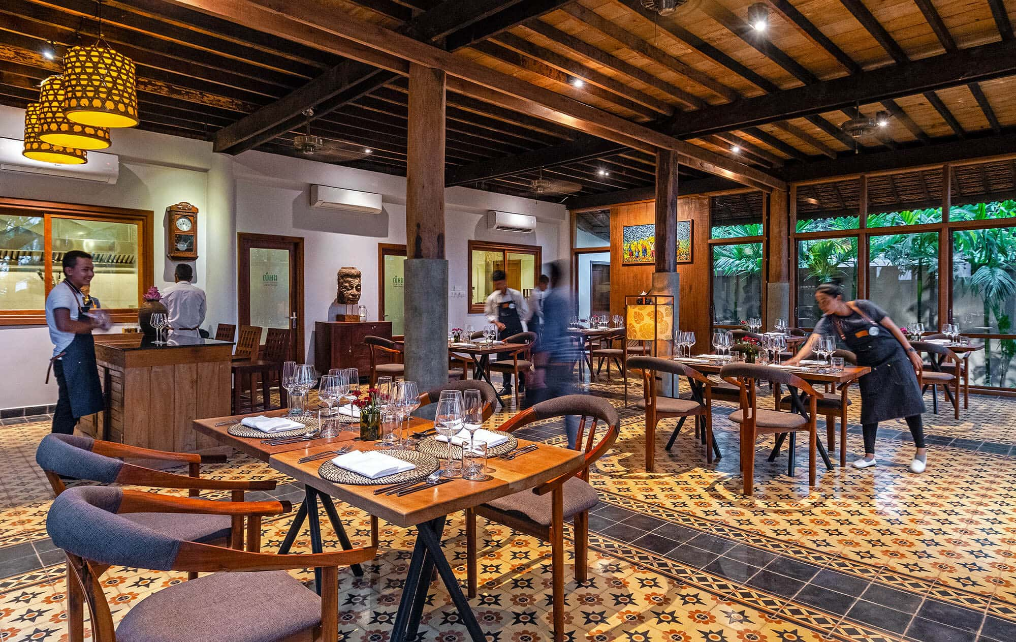 Lum Orng Restaurant, Cambodia's First Farm to Table Restaurant. New Mekong Cuisine from Cambodia and beyond. Siem Reap, Cambodia.