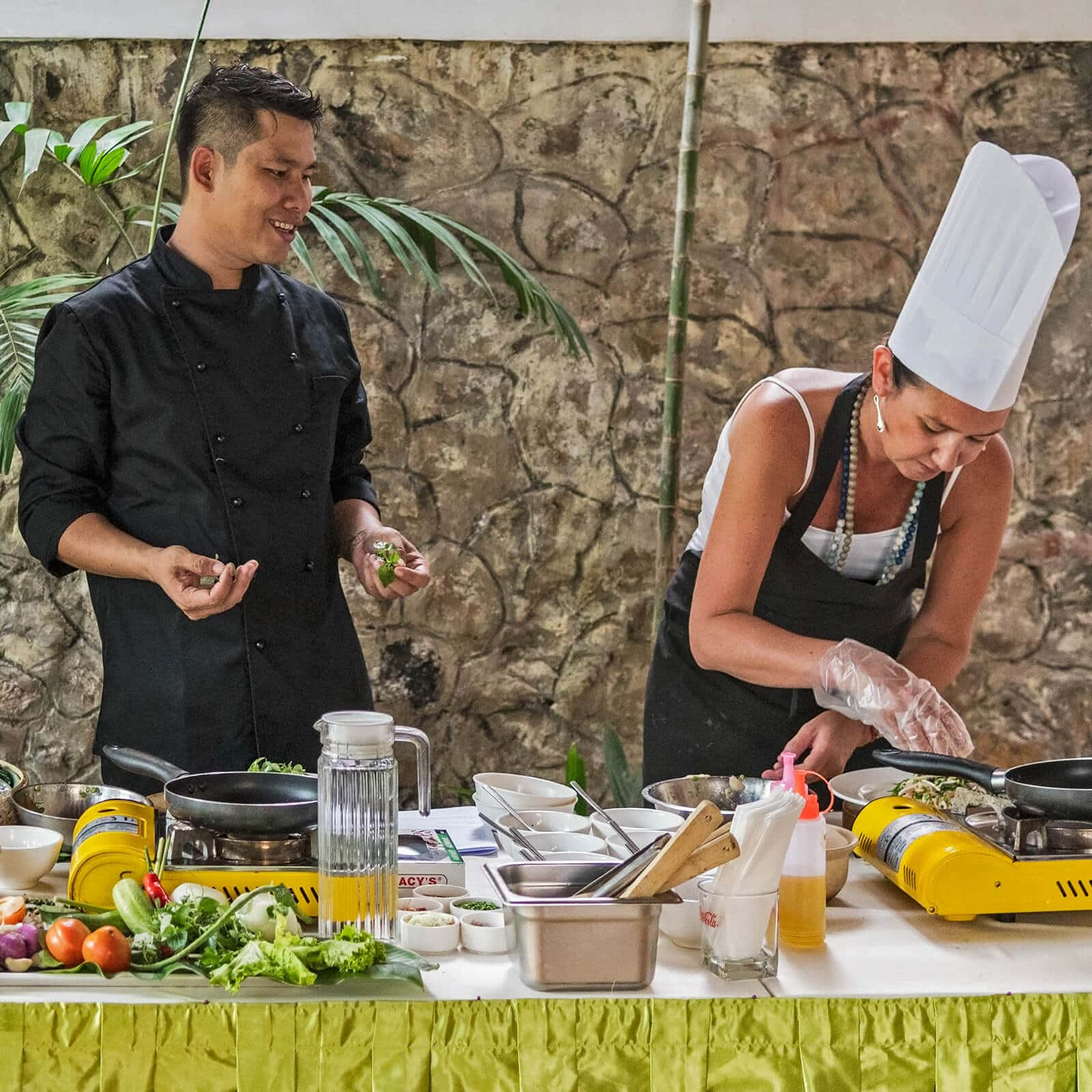 Lum Orng Restaurant, known for its farm to table cuisine in Siem Reap, Cambodia, has a cooking school utilising the freshest ingredients from its own farm.